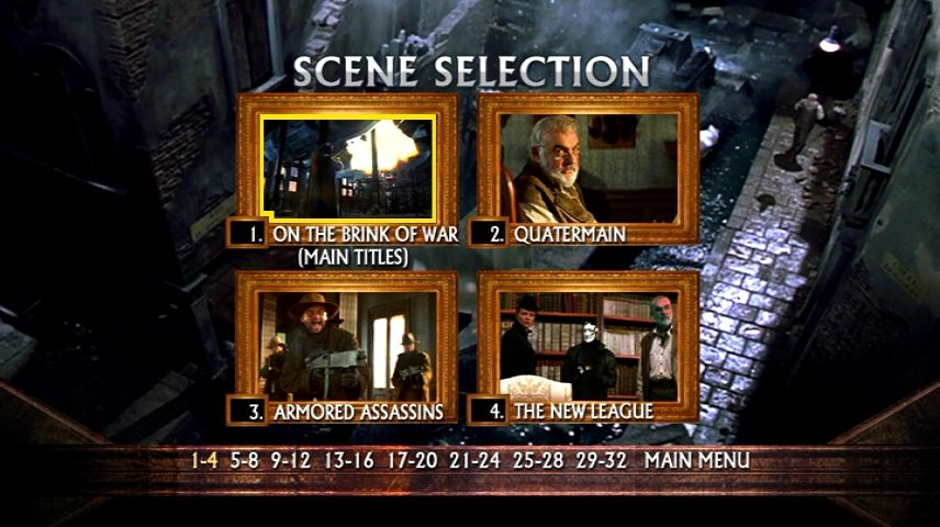 The League Of Extraordinary Gentlemen 2003 Dvd Menu