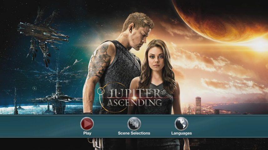 Jupiter Ascending 2015 Dvd Movie Menus