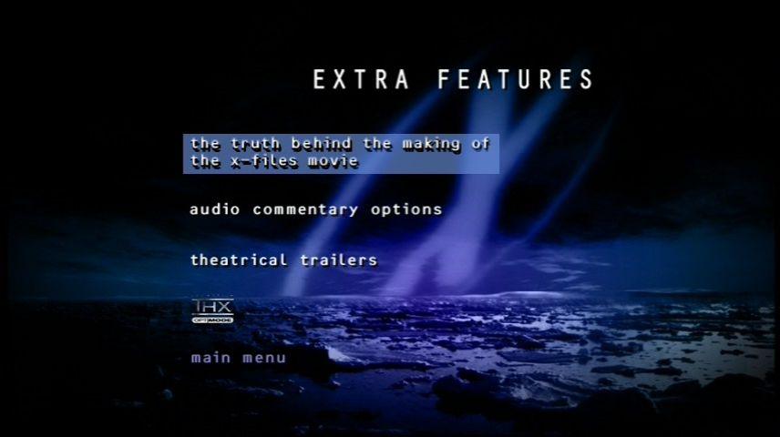 The X Files 1998 Dvd Menu