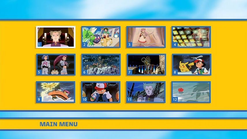 Pokemon Power Of One 1999 Dvd Menu